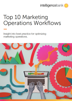 IntelligenceBank Whitepaper - Top 10 Marketing Workflows Cover